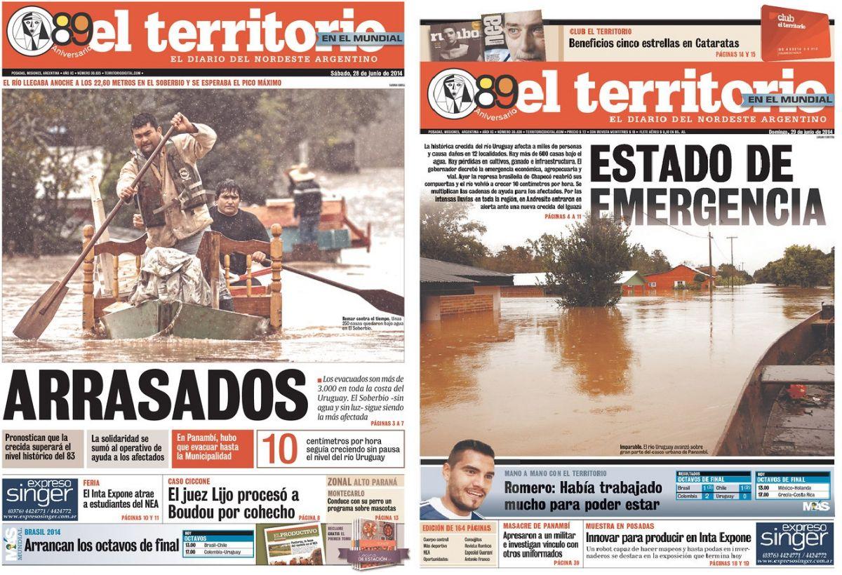 Enchentes desabrigam cerca de 15 mil pessoas na Argentina