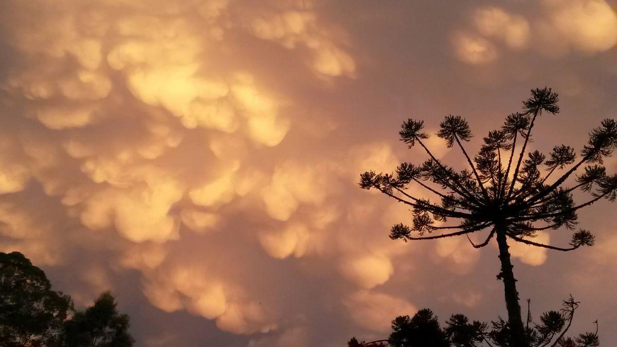 Espetacular aparição de nuvens Mammatus na Serra Gaúcha
