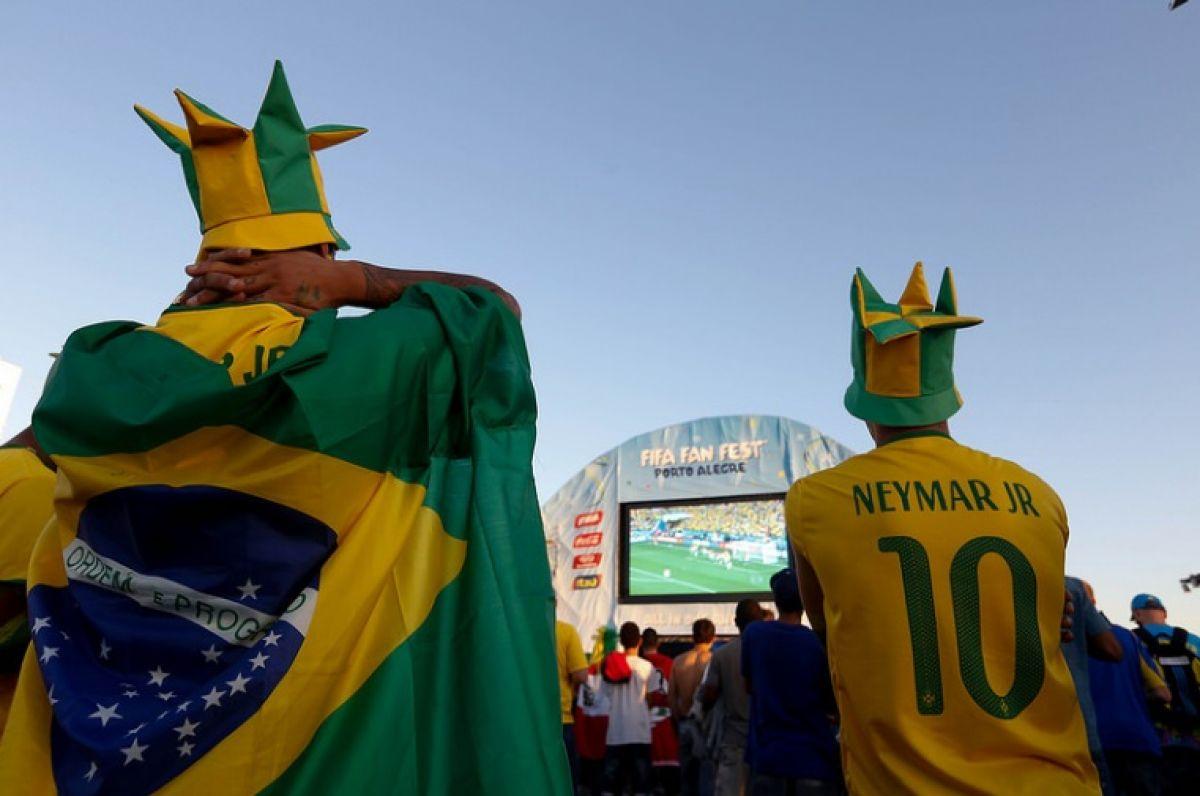 Calor marca a abertura da Copa do Mundo no Rio Grande do Sul