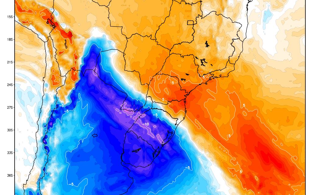 **ALERTA** Radical mudança do tempo trará frio polar para o Sul