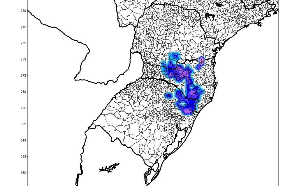 Veja as últimas projeções de neve