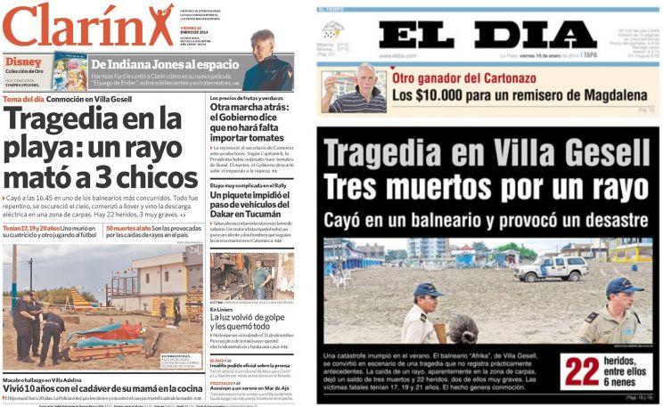 Raio provoca tragédia na Argentina e Uruguai registra granizo