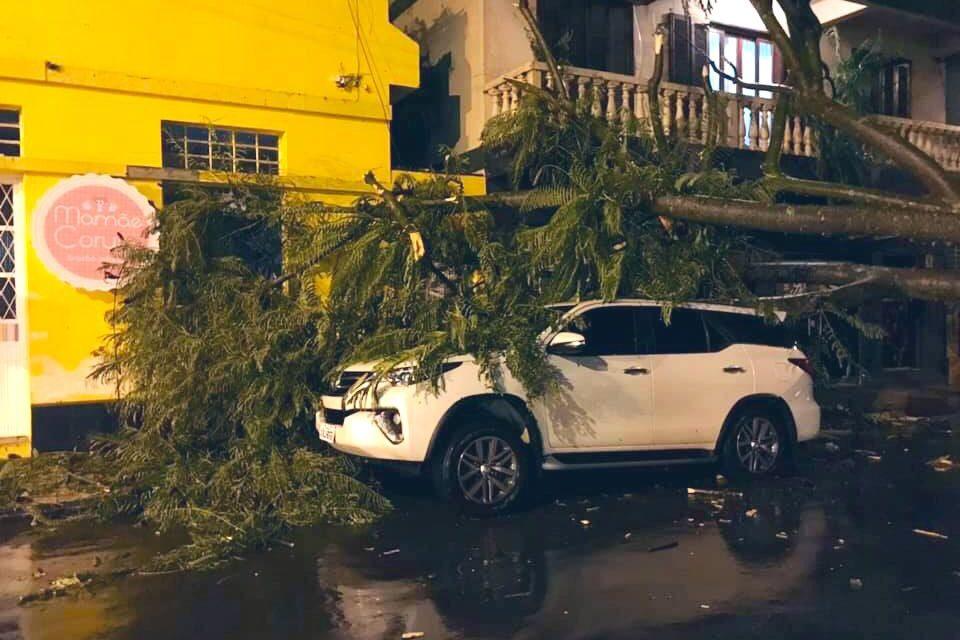 Temporal com chuva intensa e vento atingiu Cruz Alta