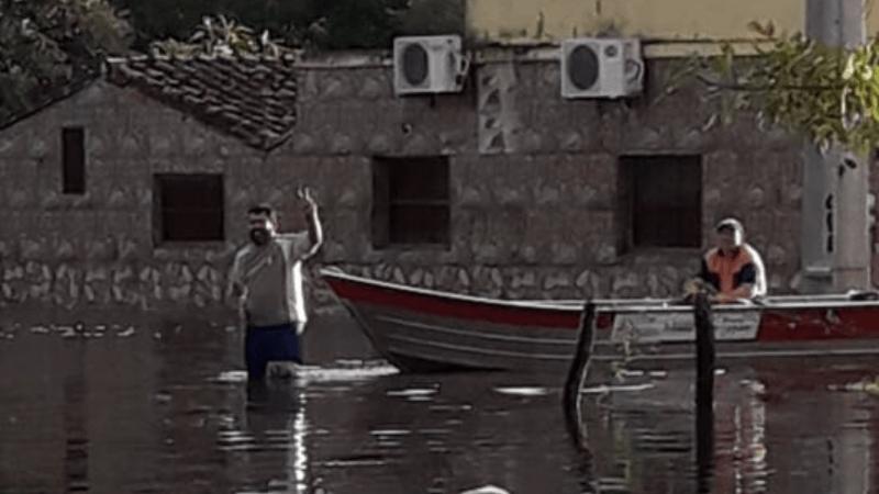 Grande enchente no Paraguai