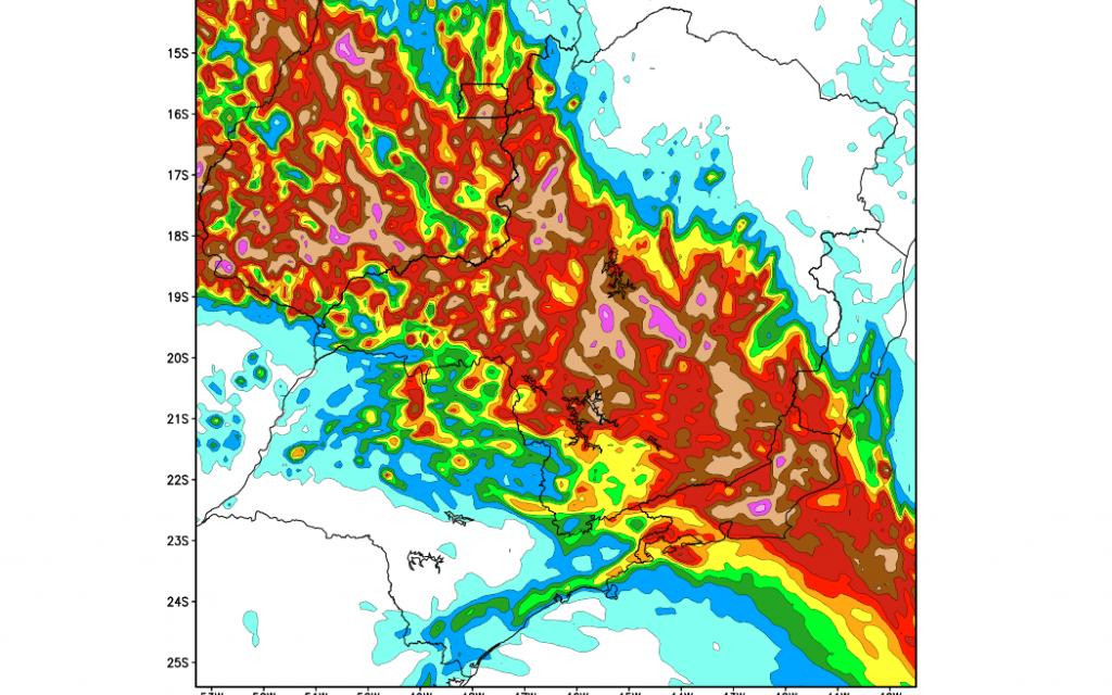 Muita chuva em Minas Gerais
