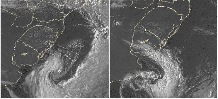 Dois ciclones afetam Uruguai em 24 horas e reforçam ar frio