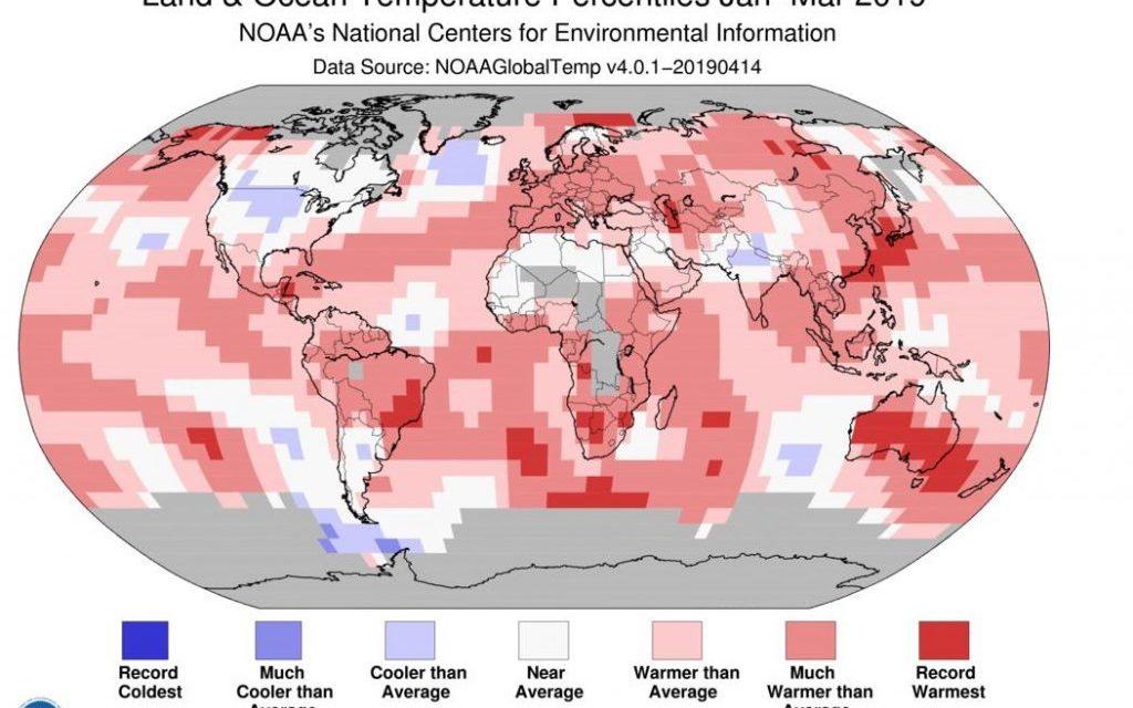 Março foi um dos mais quentes da história no planeta