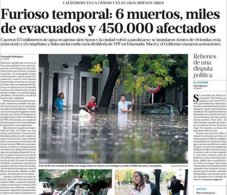 Capas dos jornais de hoje de Buenos Aires