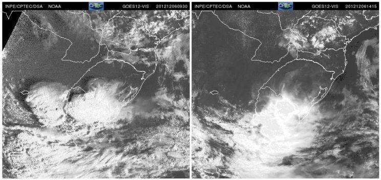Risco de tempo muito severo na Argentina, Uruguai e Sul do Brasil