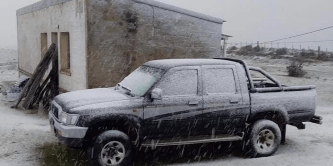 Uruguai teve flocos de neve e Sul gaúcho neve granular