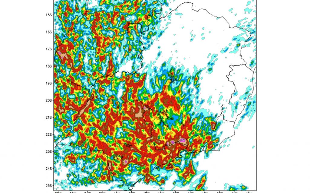 Chuva aumenta com temporais em São Paulo e no Sudeste do Brasil