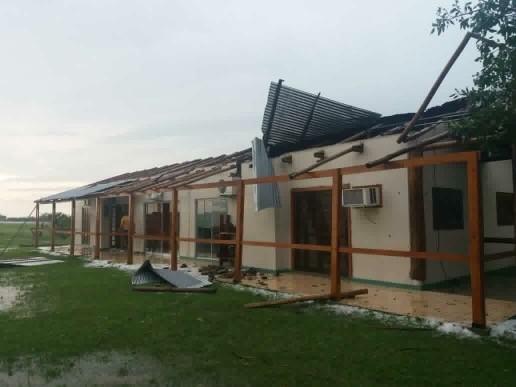 Microexplosão (downburst) atingiu interior de São Borja