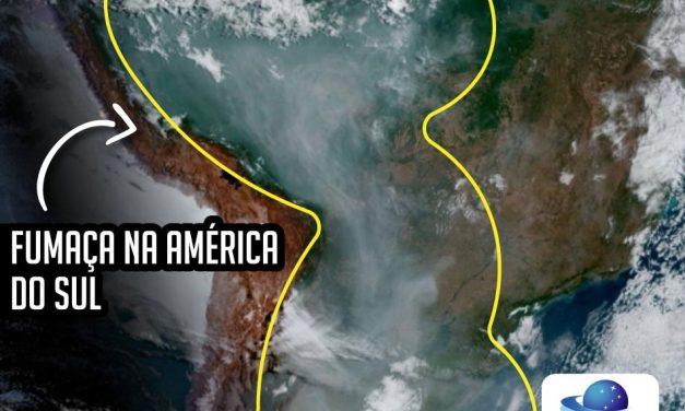 Fumaça de queimadas se estende da Amazônia até Buenos Aires
