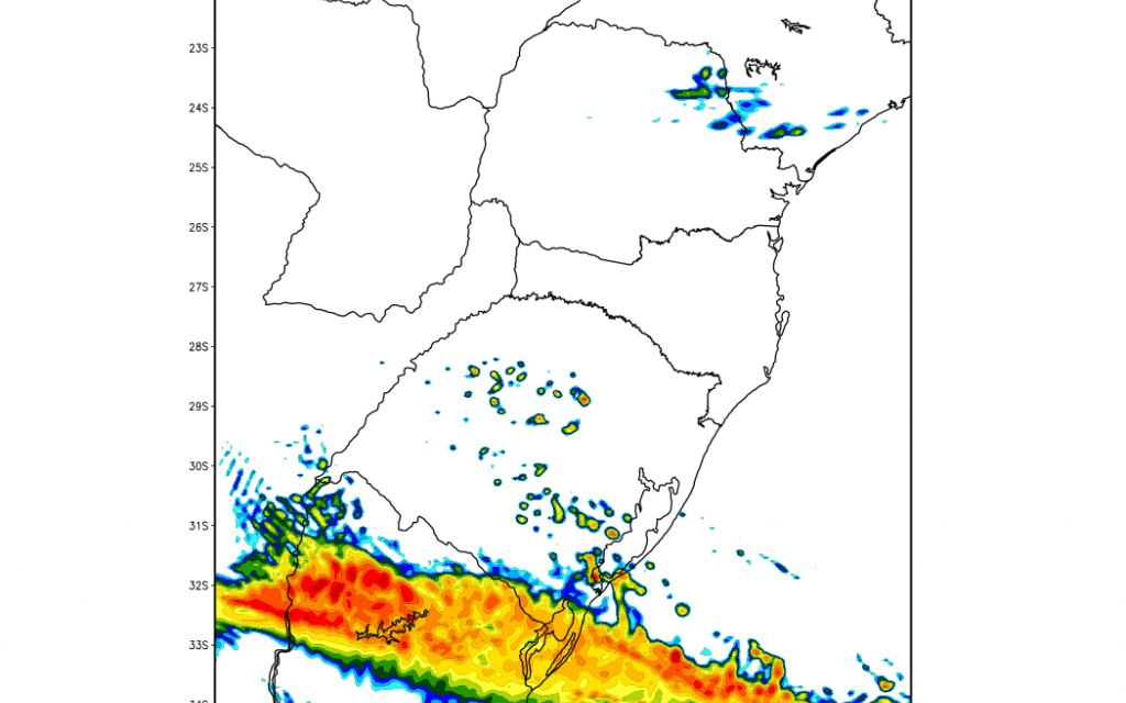 Frente fria trará chuva forte para parte do Rio Grande do Sul