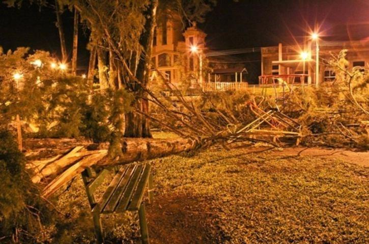 Temporais hoje e vento forte por ciclone amanhã no Estado e Uruguai