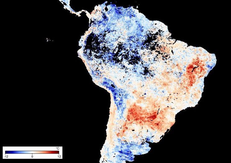 Calor de quase 40°C nos três estados do Sul do Brasil