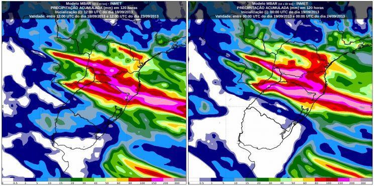 Alerta – Evento de chuva extrema no Sul do Brasil durante o feriadão