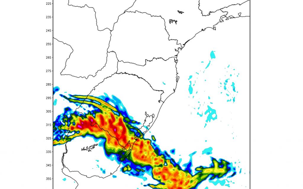 ***ALERTA*** Risco de tempo severo no Rio Grande do Sul