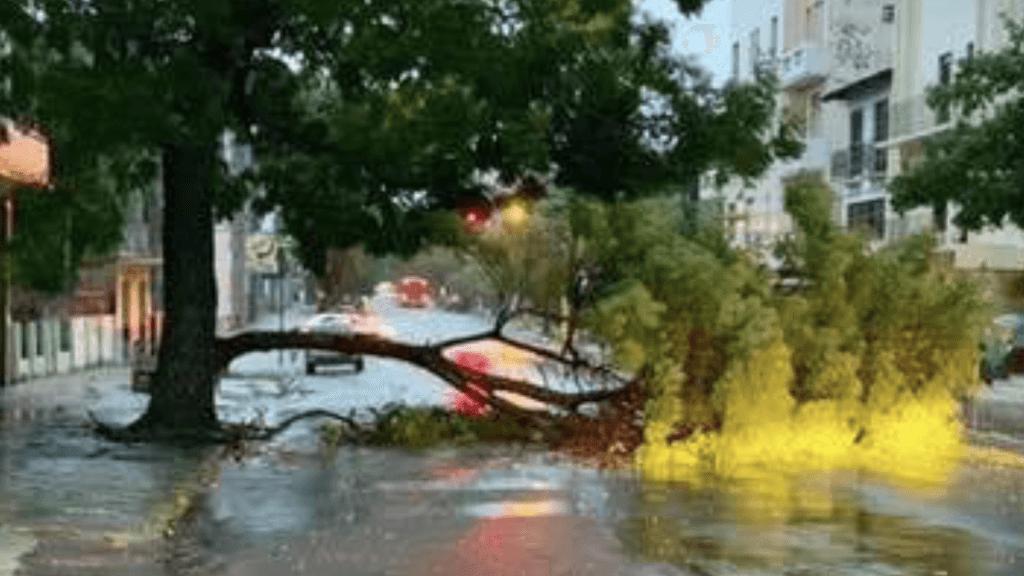Vendavais fizeram estragos no Rio Grande do Sul