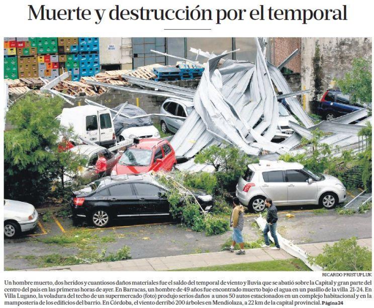 Segue o alerta para o Estado após temporais na Argentina e Uruguai