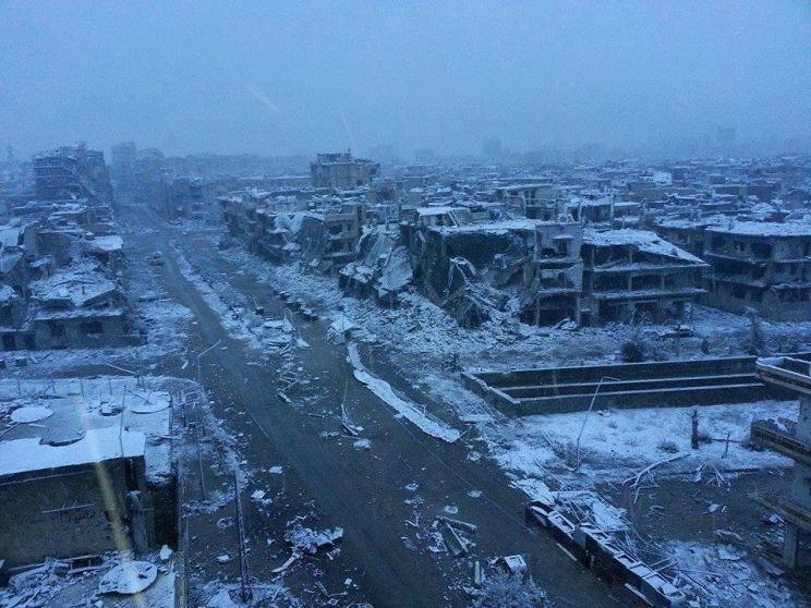 Frio e neve agravam o drama da guerra no Oriente Médio