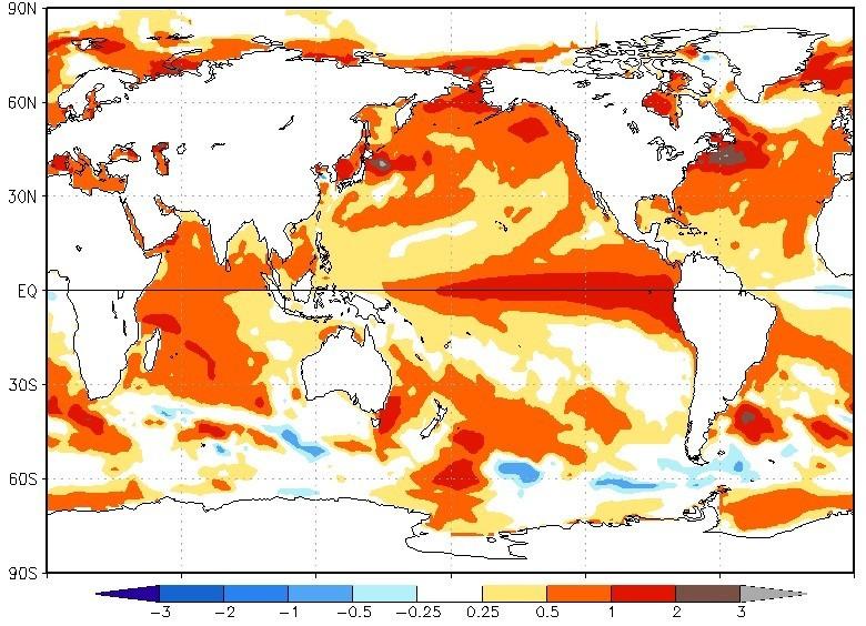 El Niño alavancará temperatura global neste ano