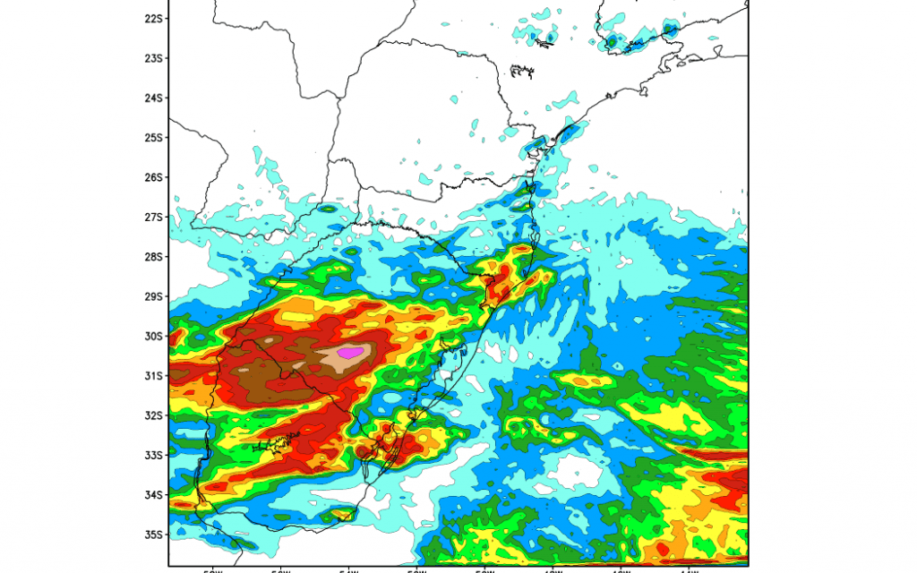 Chuva e temporais isolados no Rio Grande do Sul