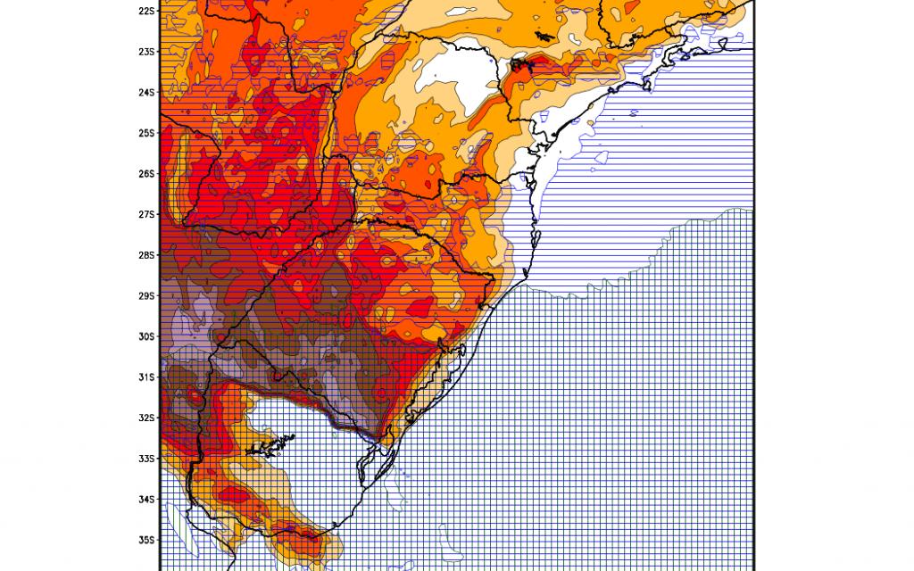 ***ALERTA*** Aviso de tempo severo na Argentina, Uruguai e Rio Grande do Sul