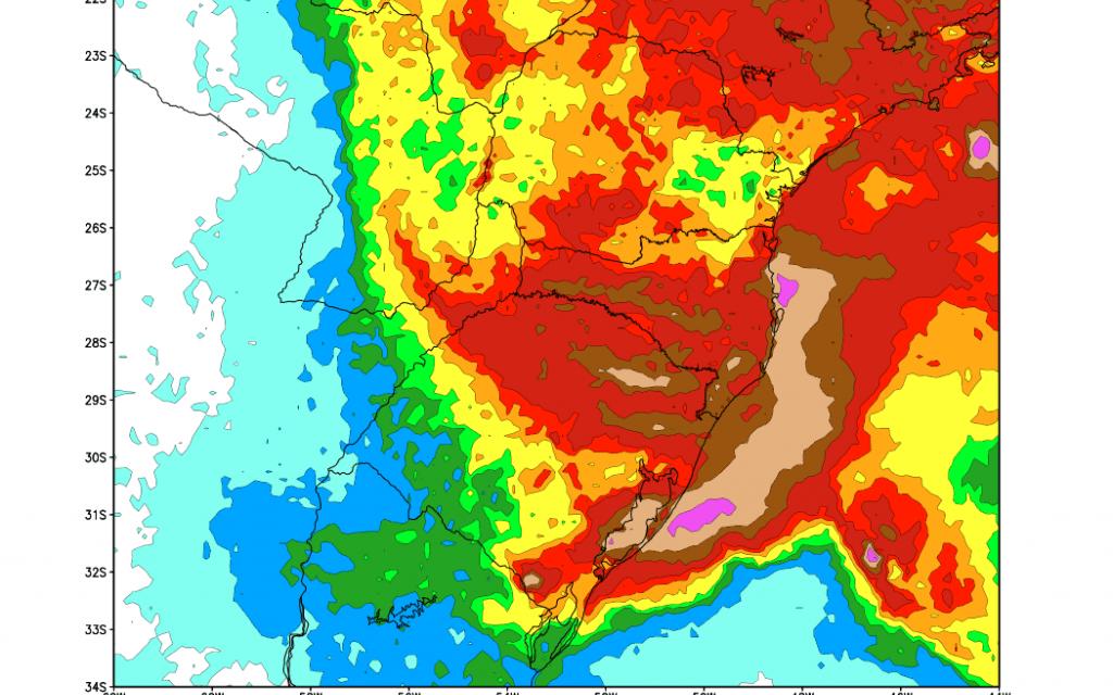 Tempo muda no Rio Grande do Sul e vem muita água