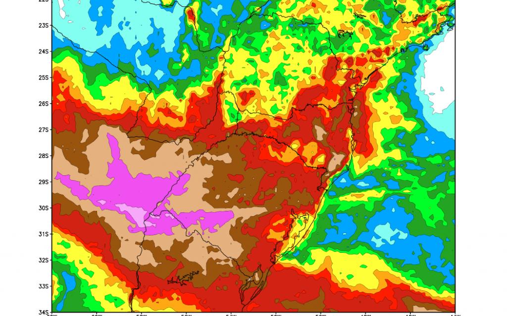 Chuva retorna às áreas com enchentes no Oeste gaúcho