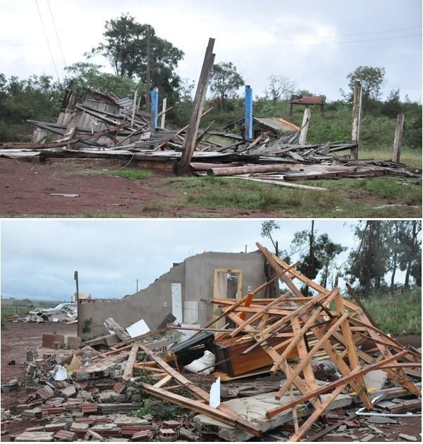Tornado é a provável causa da destruição da reserva em Redentora