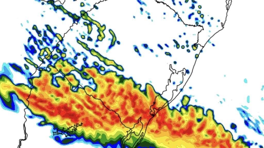 Chuva e granizo hoje no Oeste e no Sul do Rio Grande do Sul