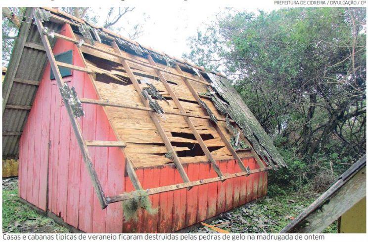Temporais provocaram estragos em várias regiões do Estado