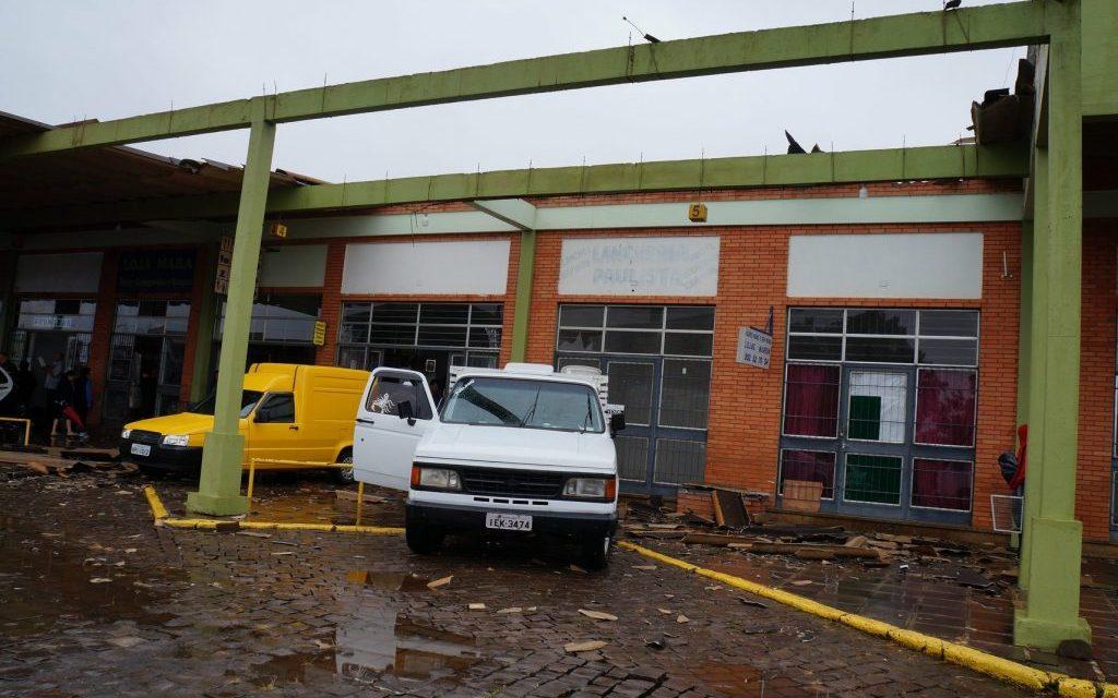 Vento fez estragos em cidade dos Campos de Cima da Serra