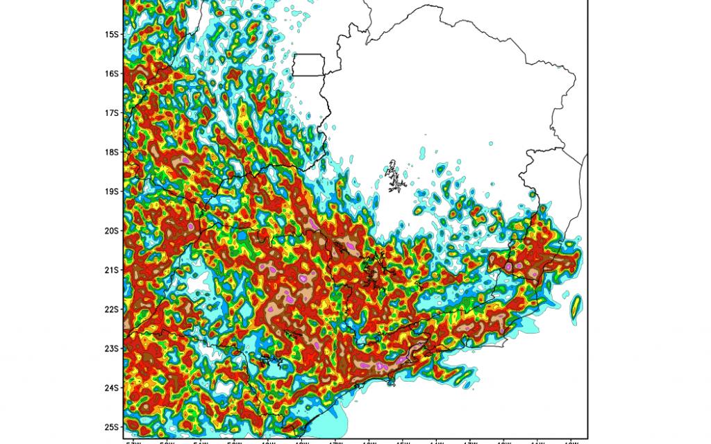 Frente chega ao Sudeste do Brasil com muita chuvarada e temporais