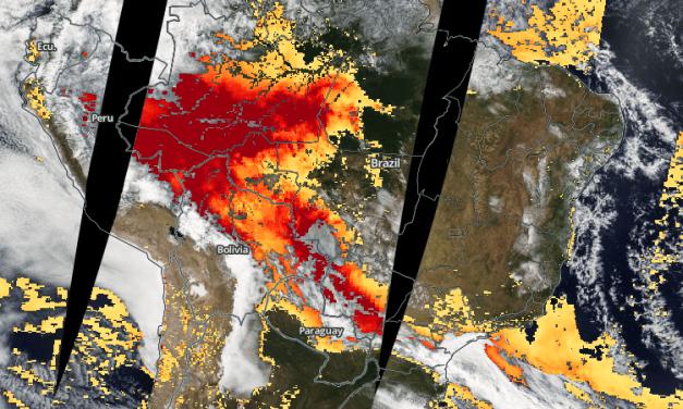 Fumaça cobre 3,2 milhões de km2 na América do Sul