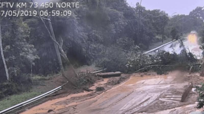 Chuva provoca alagamentos e deslizamentos no Sudeste