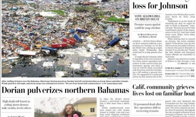 Norte das Bahamas foi pulverizado