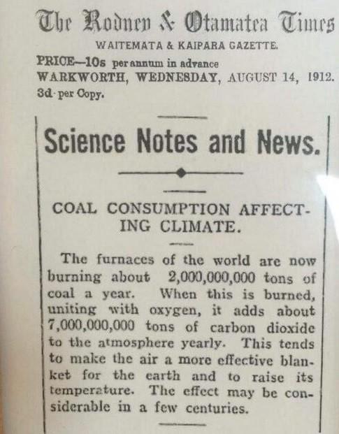 As primeiras previsões de uma Terra quente