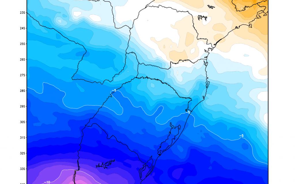 Instabilidade cede no Rio Grande do Sul com ingresso de ar frio