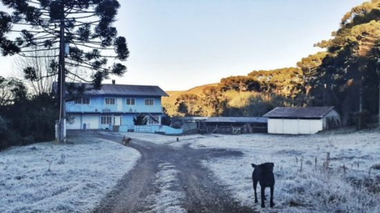 Sul do Brasil abaixo de zero: -6,8°C em SC e -4,7°C no RS