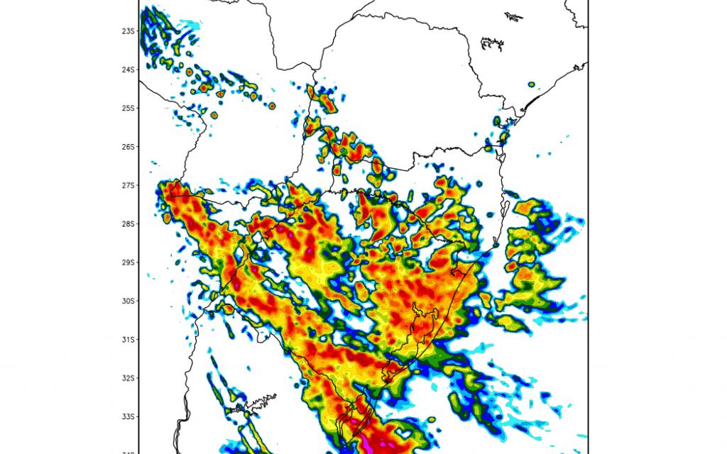 Calor com chuva e temporais isolados no Rio Grande do Sul