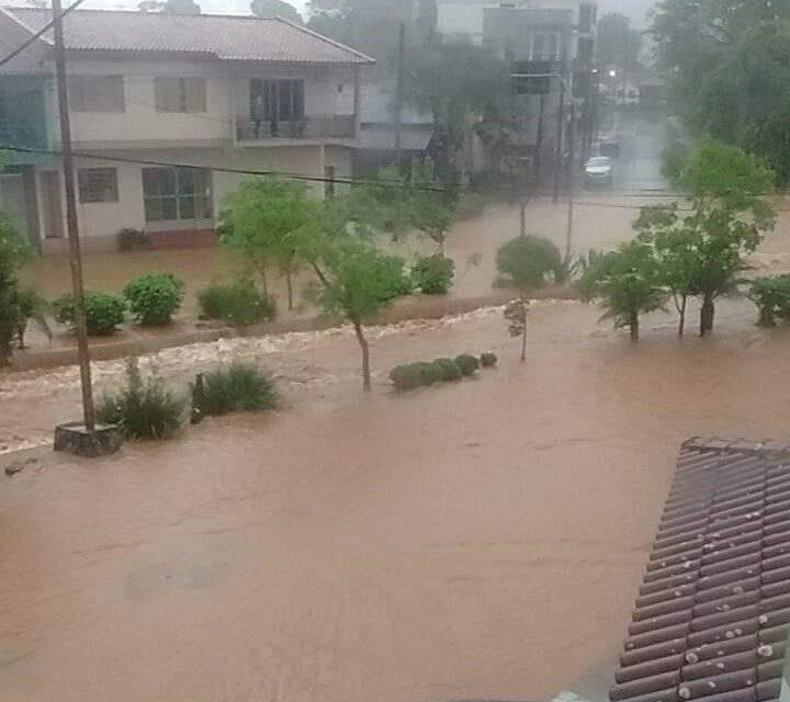 Chuva forte e temporais no Sul