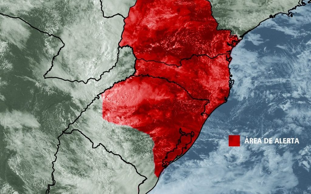 ***ALERTA*** Chuva forte e volumosa no Sul do Brasil