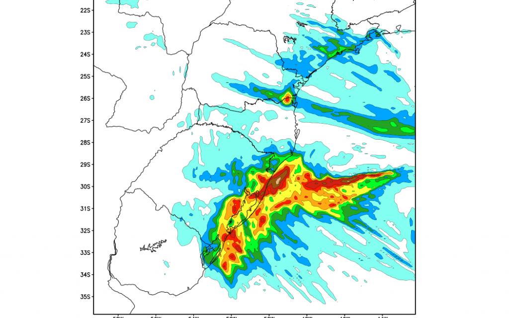 Muita chuva hoje no Leste gaúcho