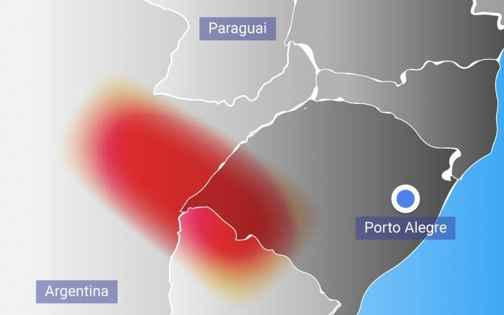 ***ALERTA*** Episódio de chuva extrema nos próximos dias entre Argentina, Brasil e Uruguai