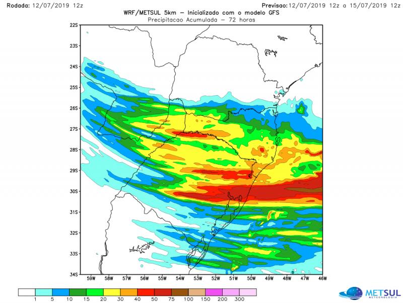 Pancadas de chuva forte entre hoje e amanhã na Grande Porto Alegre