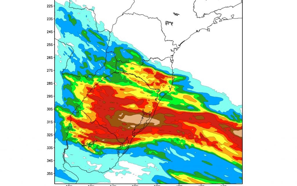 ***ALERTA*** Chuva volumosa no Rio Grande do Sul