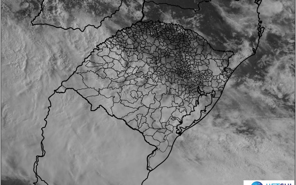 Frente semi-estacionária mantém instabilidade no Rio Grande do Sul