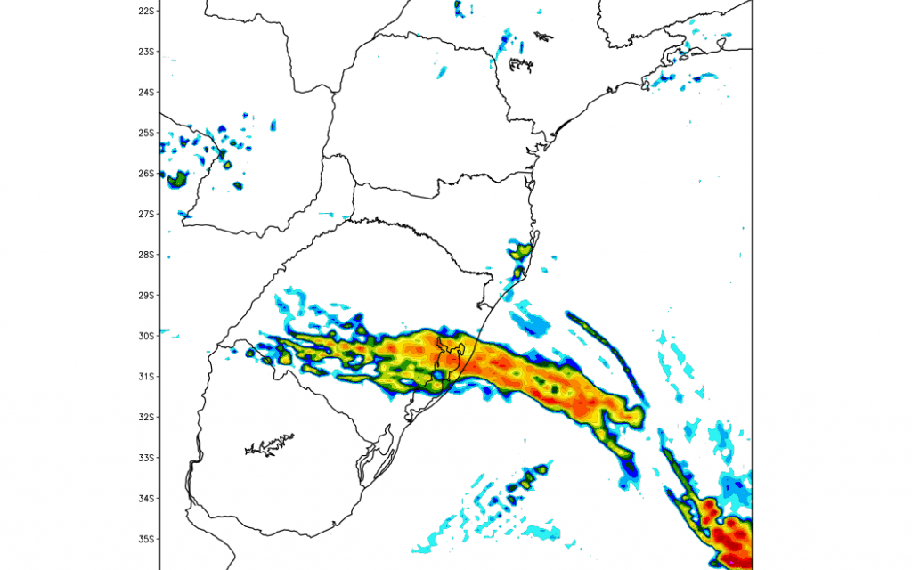 Aviso de vento forte e risco de temporais no Rio Grande do Sul